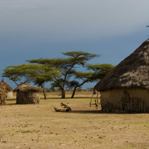 Round Mud Homes in Africa