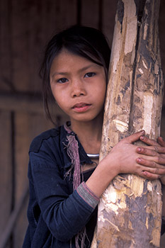 Ethnic Minority Girl in Laos