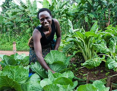 Woman in Rwanda Grows Food
