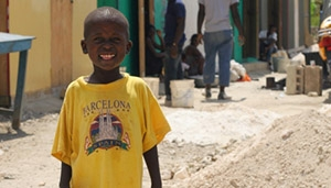 Boy in Haiti by ADRA Shelters