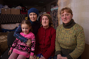 IDP's in Ukraine living in a temporary collective housing shelter