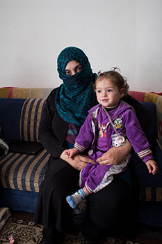 Syrian Refugee Mother and Baby