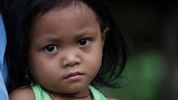 Fille au Cambodge