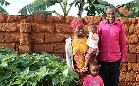 Family in Rwanda