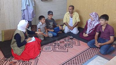 Syrian IDP family