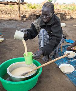 Grandmother refugee in Uganda