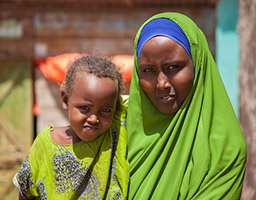 Mother and daughter in Somalia