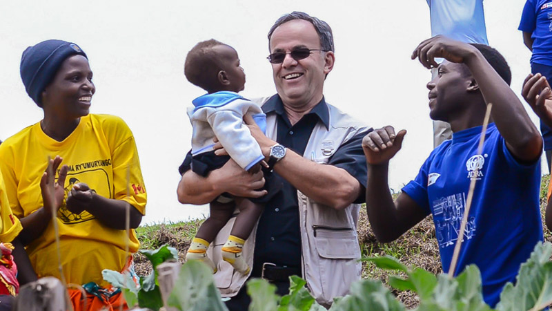 James and Baby in Rwanda