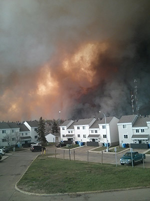 Wild FIre above Alberta Homes