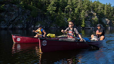 FIrst Nations Youth in Canoes