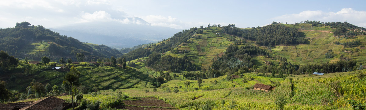 Beautiful Hillside Community in Rwanda