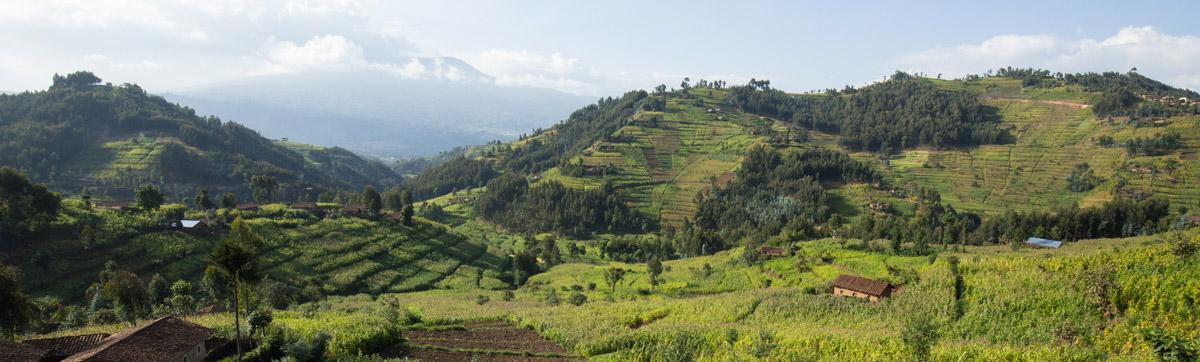Beautiful Hillside Community in Rwanda