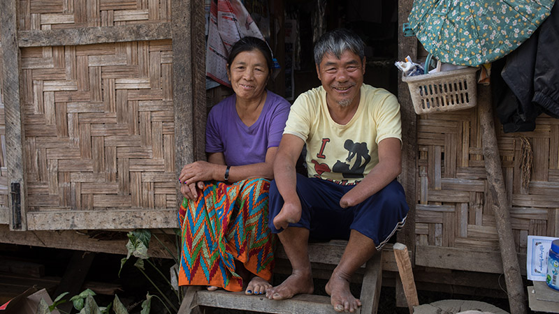 IDP Couple in Burma