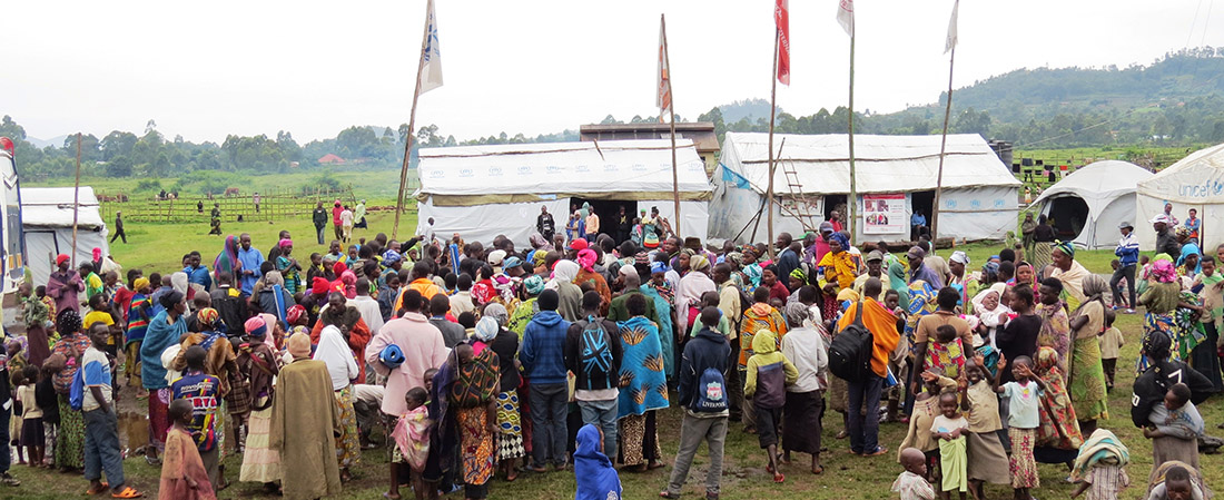 Congolese Refugees arriving in Uganda