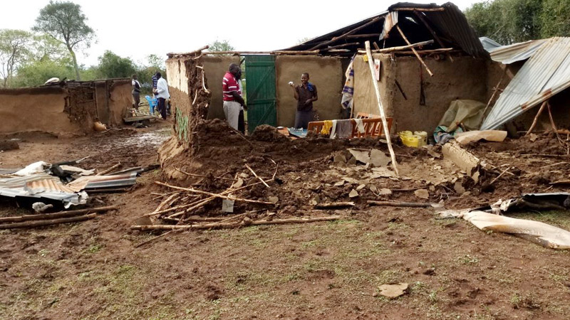 Damaged Home in Kenya