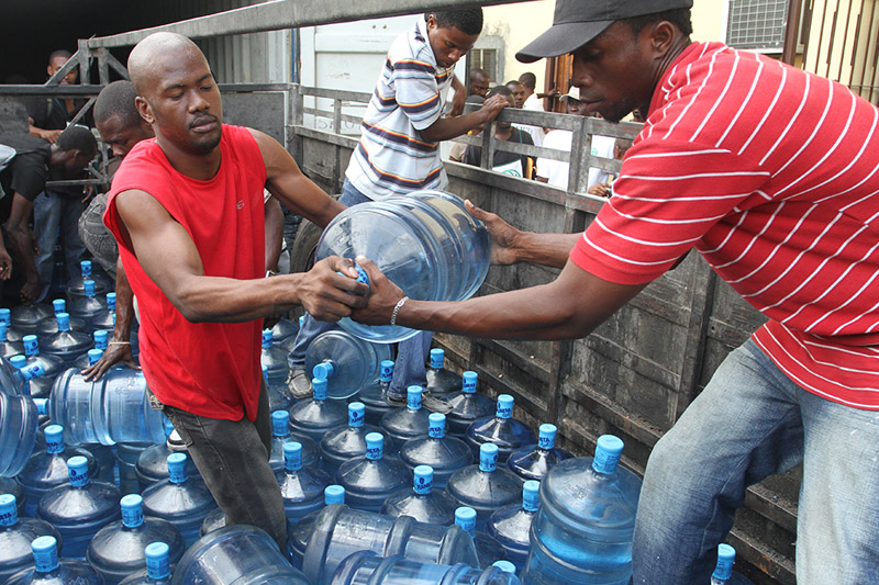 Water Distribution after the Earthquake in Haiti