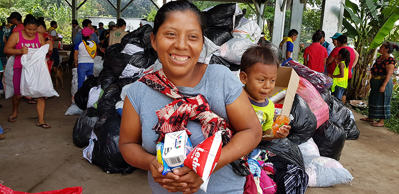Volcano Victim Receives Assistance from ADRA