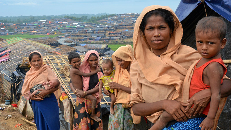 Rohingya Women and Children in Refugee Camp