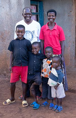 Rural Family in Rwanda